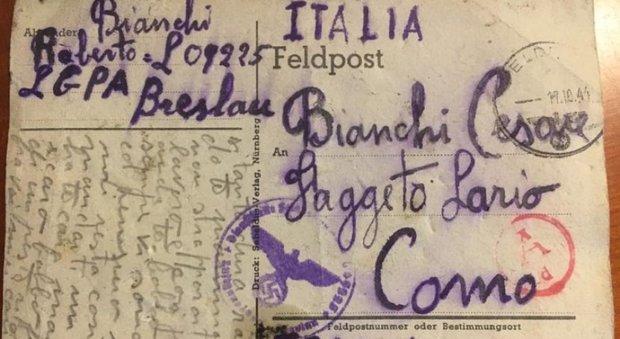 La cartolina inviata da Roberto Bianchi ai genitori - Credit: Valentina Romano