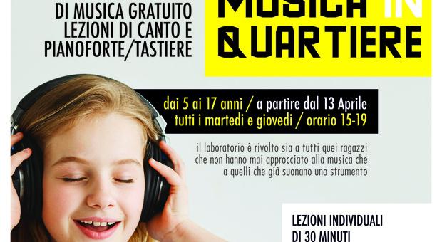 """A Terni """"Musica in quartiere"""": Al Cesvol lezioni gratuite di musica per bambini e ragazzi"""