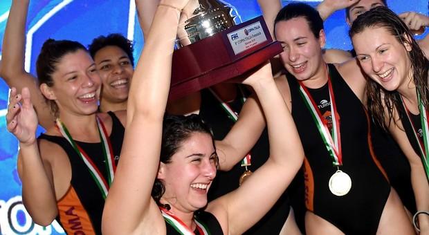 Pallanuoto femminile, la Sis Roma batte Rapallo e vince la Coppa Italia