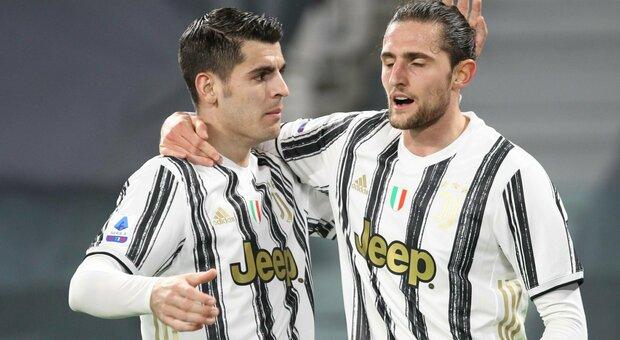 Juve-Lazio 3-1. A Inzaghi non basta Correa, Pirlo vince grazie a Rabiot e Morata