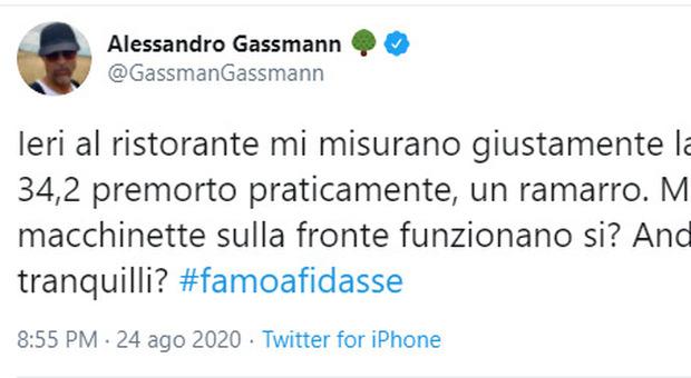 Alessandro Gassmann: «Al ristorante con 34,2 di febbre, ma ste macchinette funzionano, si?»