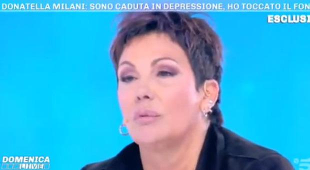 Donatella Milani choc a Domenica Live: «Sono fortemente depressa». Ecco il suo dramma