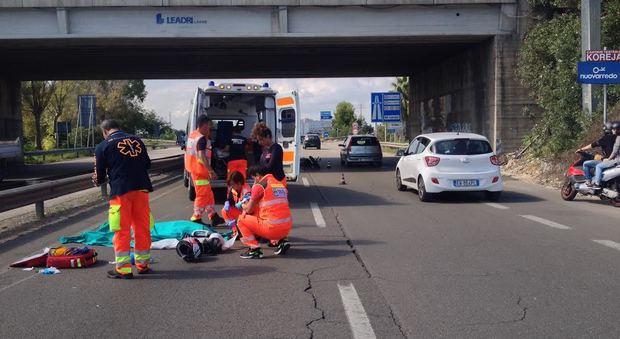 Lecce, schianto tremendo sulla tangenziale, muore un motociclista