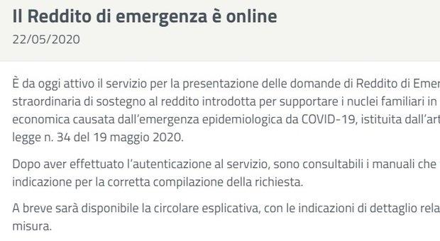 Reddito di emergenza, sul sito Inps la procedura online. Catalfo: «Già migliaia di domande»