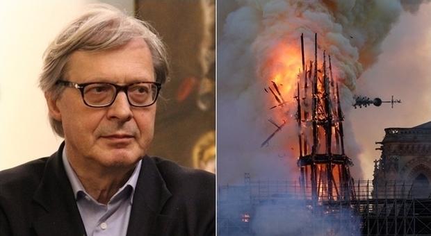 Vittorio Sgarbi ha commentato l'incendio della Cattedrale di Notre-Dame