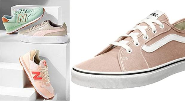 Le sneaker dell'estate sono color pastello: al mare sportivi, ma con stile