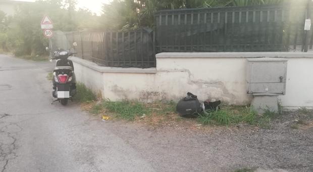 Fondi, incidente in via Feudo: motociclista ferito trasferito in eliambulanza a Latina