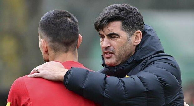 Roma, Fonseca: «Non è umano giocare così tanto. Con il Genoa Pedro e Smalling titolari»