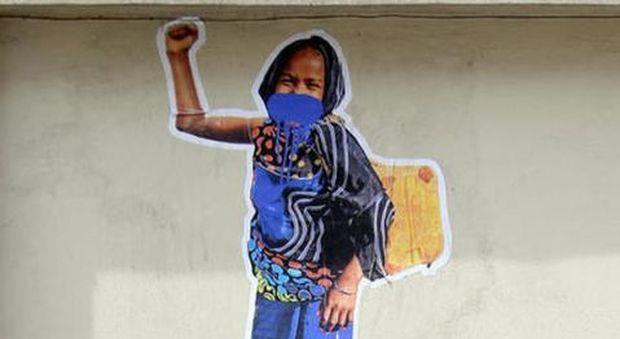 Il murales per la bimba eritrea sposata da Montanelli