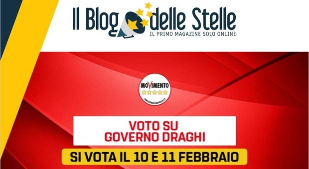 Governo Draghi, blog M5S: voto su ingresso in esecutivo 10 e 11 febbraio su Rousseau
