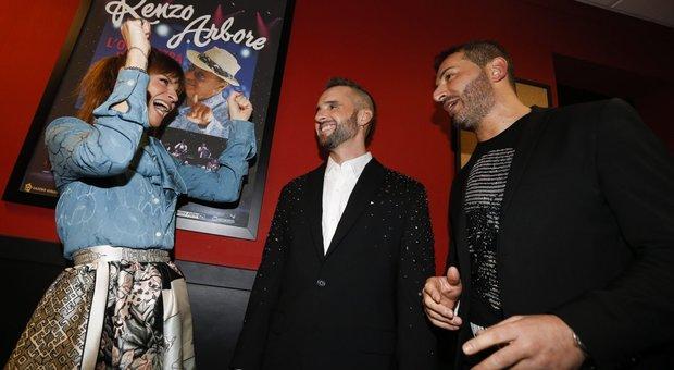 Da sinistra, Alessandra Amoroso, Roberto Casalino e Mauro Atturo