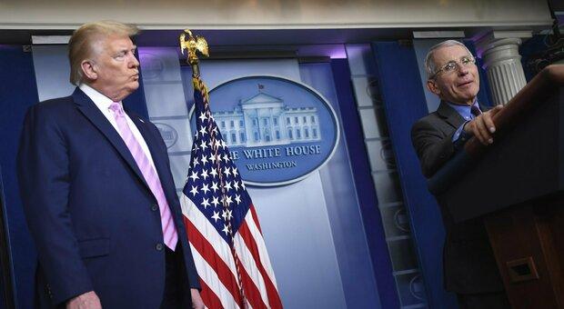 Donald Trump: «Stanchi del covid e dell'idiota Fauci. Se vince Biden salta anche il Natale»