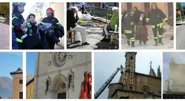 Terremoto, forte scossa di magnitudo 6.5 sentita anche a Roma. Feriti e crolli