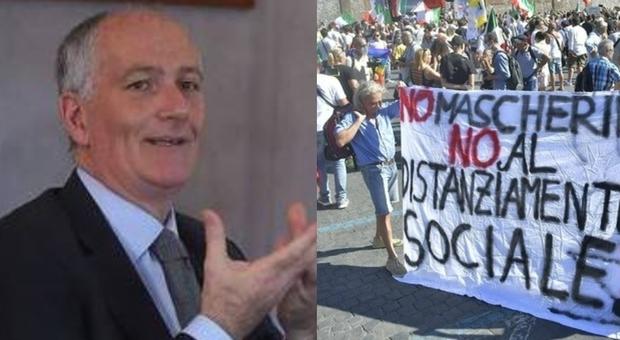 Covid, manifestazione negazionisti a Roma. La polizia: «In piazza solo con le mascherine»