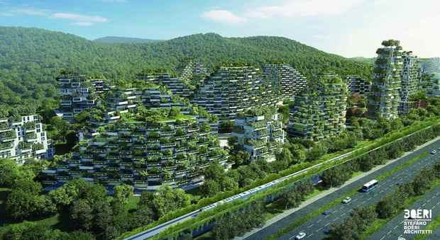 Una immagine del progetto per Liuzhou firmato Stefano Boeri Architetti