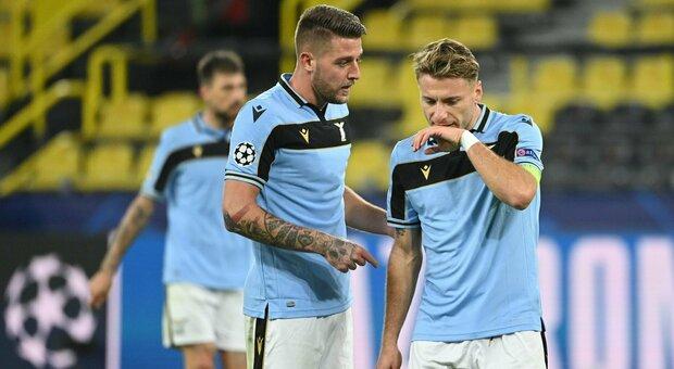 Lazio, Milinkovic: «Il pari col Dortmund ci va stretto». Immobile: «Ancora un ultimo sforzo»