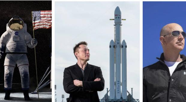 Luna, Bezos fa lo sconto di due miliardi ma la Nasa sceglie Musk per il programma Artemis