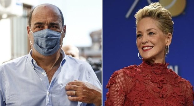 Zingaretti e Sharon Stone uniti nella lotta al Covid, il messaggio dell'attrice: «Vaccino Spallanzani bene comune»