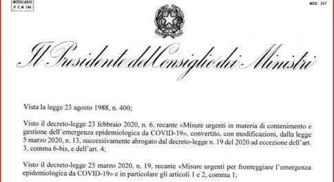Dpcm, Conte ha firmato: testo completo con tutte le misure