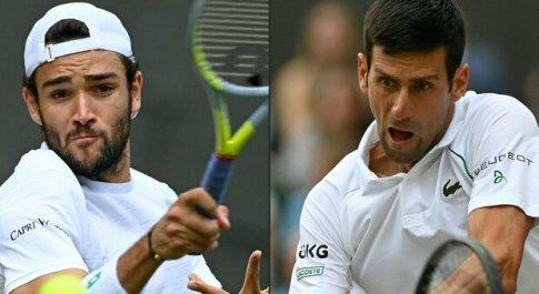 Berrettini-Djokovic, diritto e servizio: l'italiano può farcela. Oggi la finale a Wimbledon