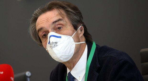 Lombardia, Fontana: «Sceso il rischio del contagio da Covid19 da moderato a basso»
