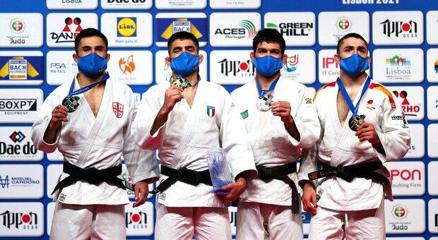 Judo, super Lombardo conquista l'oro agli Europei di Lisbona. Medaglia d'argento per Giuffrida