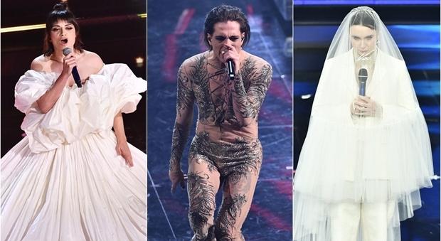 Pagelle look finale Sanremo 2021: Orietta mago Otelma (1), Maneskin bomba sexy (9), Madame sposa (9)