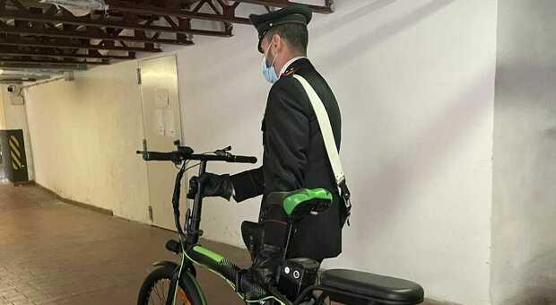 La bici recuperata dai carabinieri