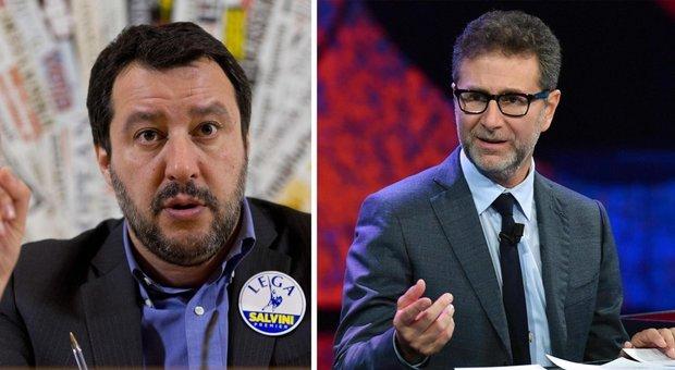 Salvini contro Fazio: non vado ospite da comunisti con il Rolex pagato dagli italiani