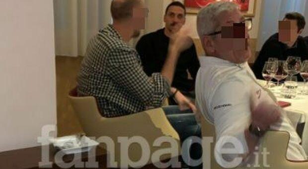 Ibrahimovic al ristorante in zona rossa, è bufera: «Aperto solo per lui». La difesa del Milan: incontro di lavoro