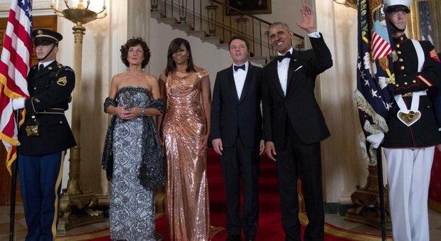 Washington, Obama accoglie Renzi per la cena di Stato: parata di vip e abiti da favola alla Casa Bianca