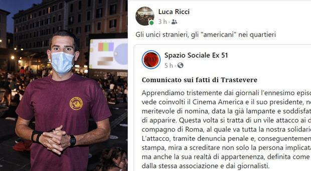 Cinema America, l'aggressore di Carocci sui social: «Gli stranieri sono loro»