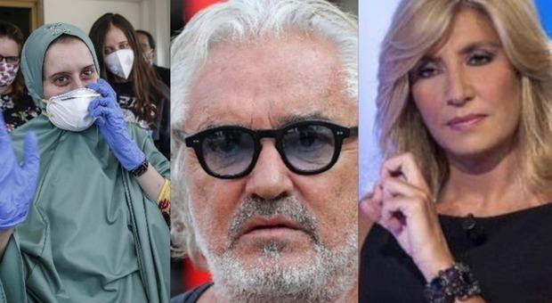 Briatore choc su Silvia Romano a L'Aria che tira: «Si è convertita ad Al Shabaab, non all'Islam». Myrta Merlino gli risponde in diretta