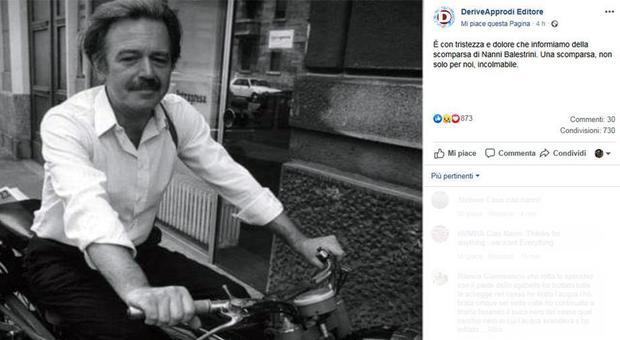 È morto Nanni Balestrini, poeta e scrittore: aveva 83 anni