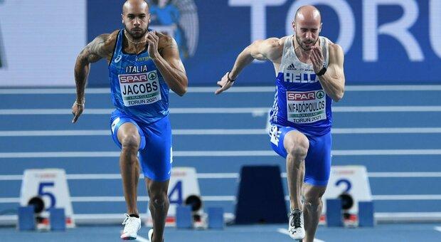 """Euroindoor, storico oro con record italiano per Jacobs nei 60 metri: 6""""47"""