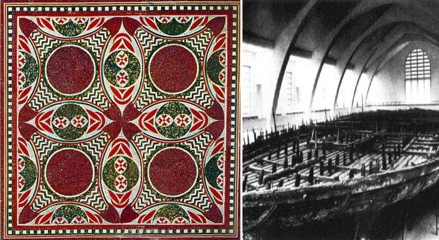 Ritrovato il mosaico delle navi di Nemi sparito nel rogo nazista