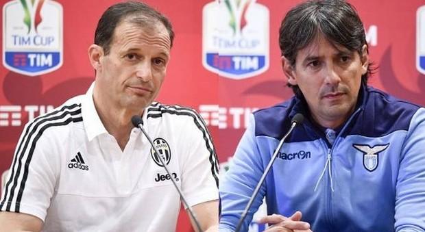 Allegri e Inzaghi, la Supercoppia. Juve-Lazio sfida tra tecnici agli antipodi