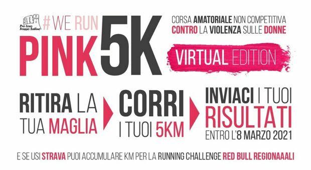 """Tutto pronto per la prima """"virtual edition"""" della corsa amatoriale non competitiva di 5 km #WeRunPink"""