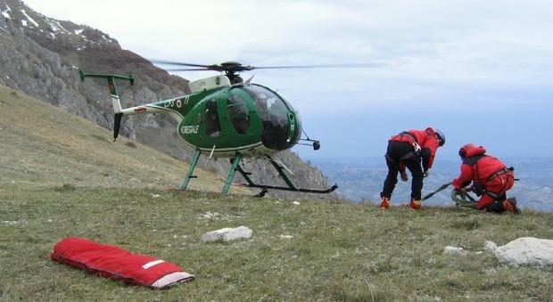 Umbro bloccato sul Monte Grappa: voleva recuperare il cagnolino