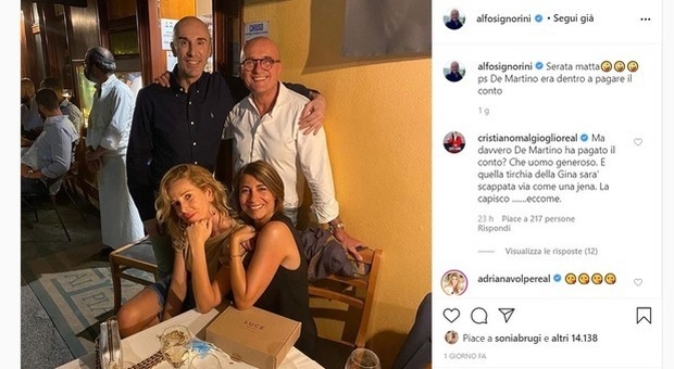 Alessia Marcuzzi e Stefano De Martino: la battuta di Alfonso Signorini che fulmina la conduttrice Mediaset