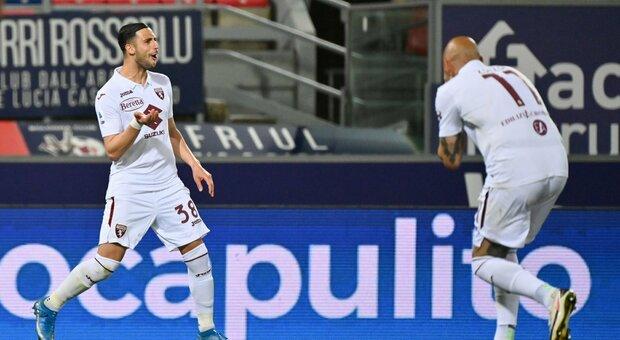 Torino, Mandragora gran gol a Bologna per la salvezza