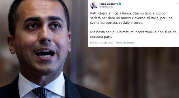 Governo, diretta. Zingaretti: «Giù le tasse su salari bassi. L'Istat conferma che serve una svolta»