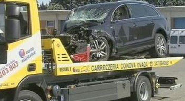 Il Suv coinvolto nell'incidente
