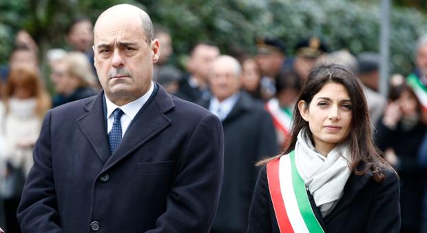 Altolà di Zingaretti: «Il bis della Raggi minaccia per Roma»