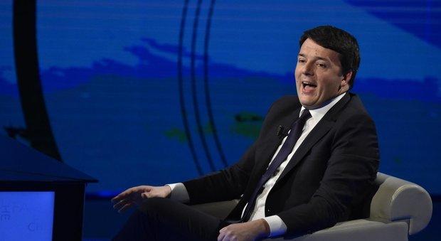 """Matteo Renzi ospite di Fabio Fazio a """"Che tempo che fa"""", su Rai 3"""