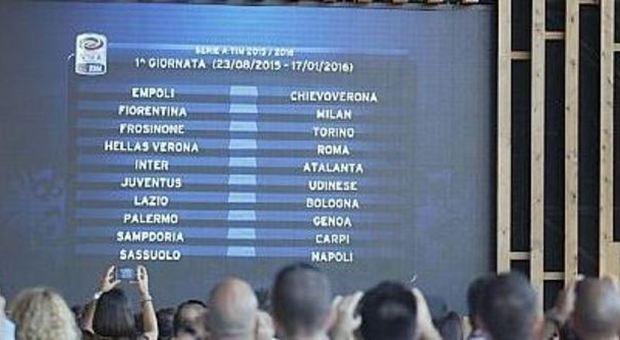 1e1f05340d Serie A, ecco il calendario: è subito spettacolo. Il 30 agosto Roma-Juventus,  l'8 novembre Roma-lazio