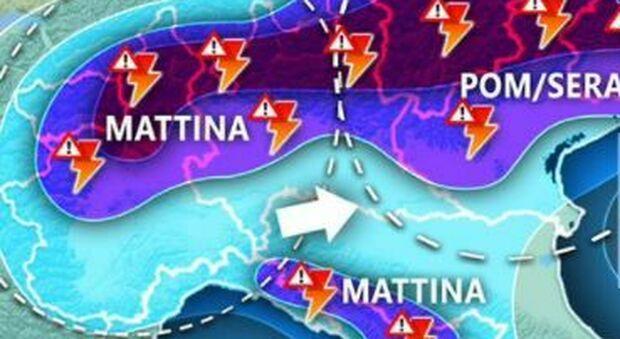 Meteo, allerta arancione in Lombardia e Toscana: temporali in arrivo su Nord e parte del Centro