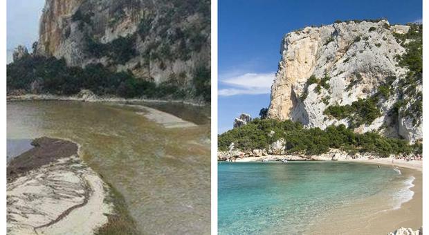 Sardegna, Cala Luna: la spiaggia spazzata via dal maltempo