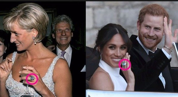 bene fuori x bel design la più grande selezione Royal Wedding, Harry regala a Meghan l'anello della mamma Diana