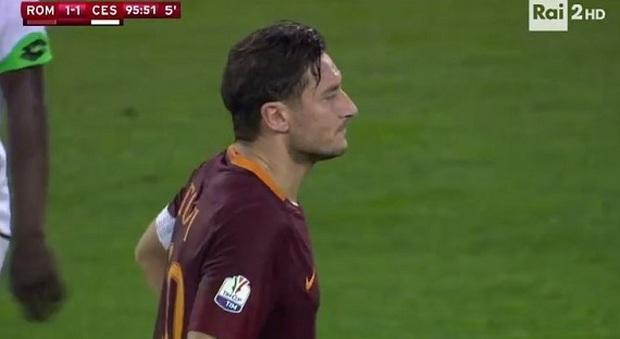 Il rigore di Francesco Totti